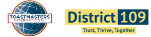 DISTRICT 109 – Toastmasters International Logo