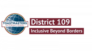 DISTRICT 109 – Toastmasters International Logo